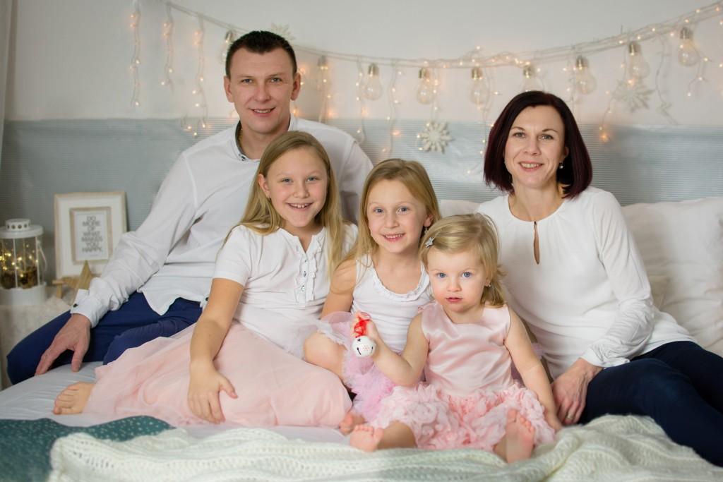 vianočné rodinné fotenie