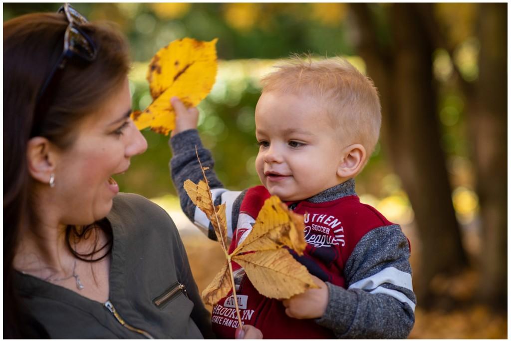 jesenné fotenie detí
