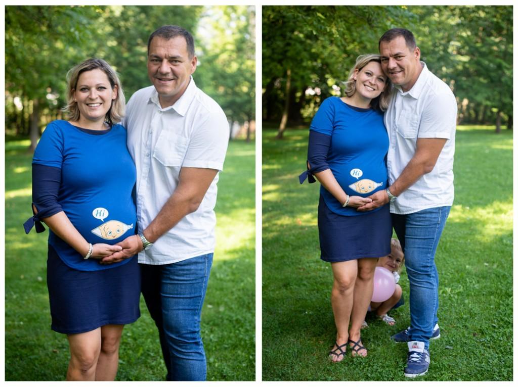 rodinné tehotenské fotenie